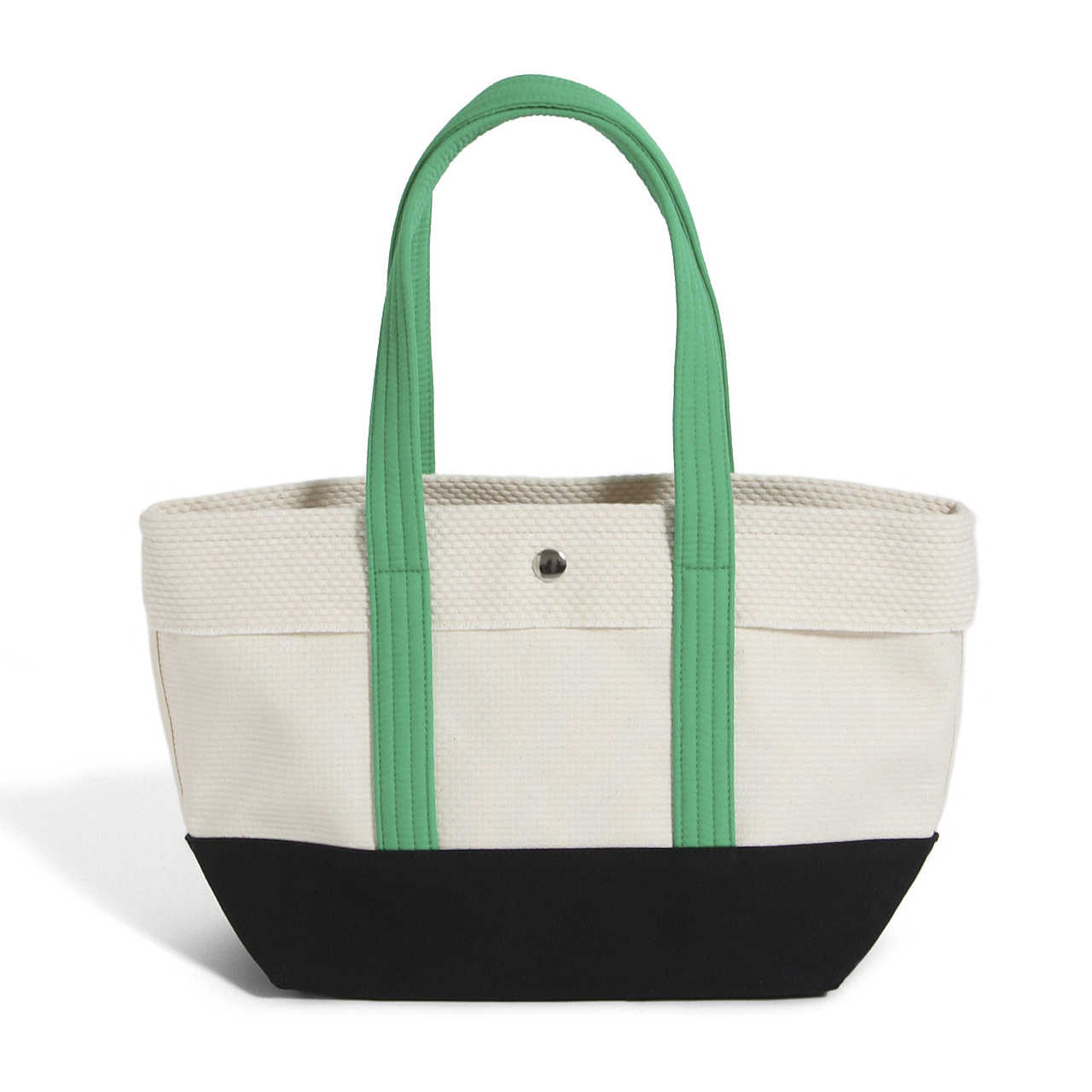 CaBas N°1 Tote small (White/Green)